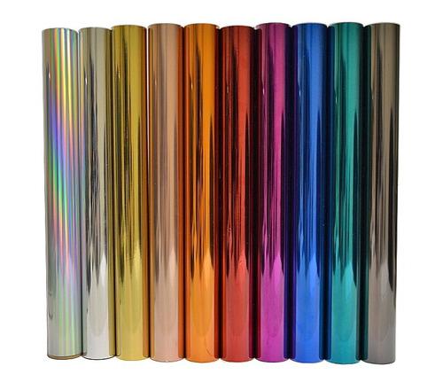 Foil Art Transfer Metalizado -rinde 25 Hojas A4- Pack X 6
