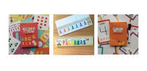 Set Didáctico Letras Y Numeros 3 Juegos Lectoescritura Niños