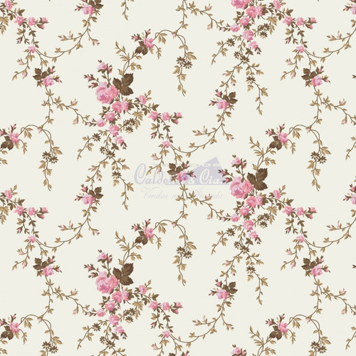 Tecido Tricoline Estampado Floral 100% Algodão 1mt X 1,50mt