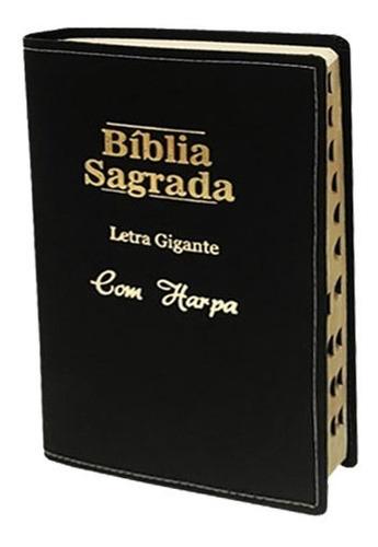 Bíblia Sagrada Letra Gigante Com Harpa E Corinhos Luxo