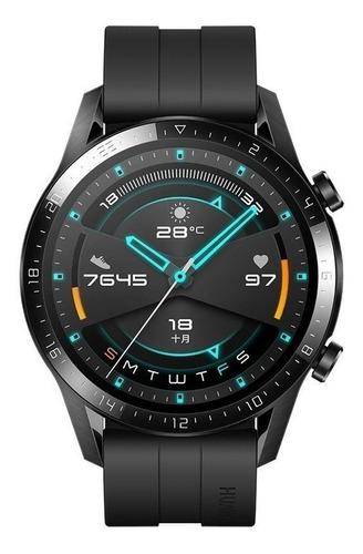 Huawei Watch Gt 2 Sport 1.39  Caja 46mm De  Metal Y Plástico  Black Malla  Matte Black De  Fluoroelastómero Ltn-b19