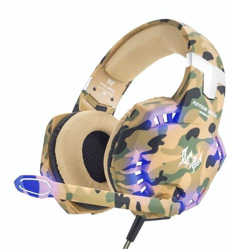 Gamer Onikuma G2600 Camouflage Yellow Microphone Headphones
