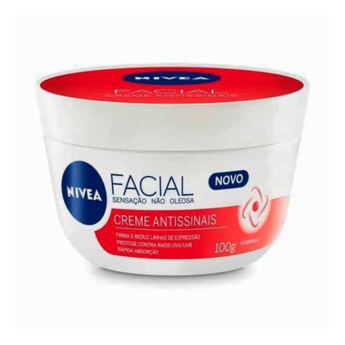 Creme Facial Antissinais Nivea 100g - 1 Unid