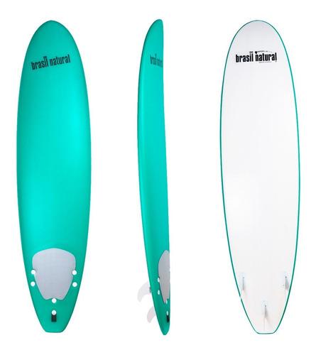 Prancha De Surf Soft 7'2 Funboard + Deck + Quilhas + Leash