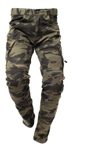 Calça Jeans Hlx Com Proteção Camu Force
