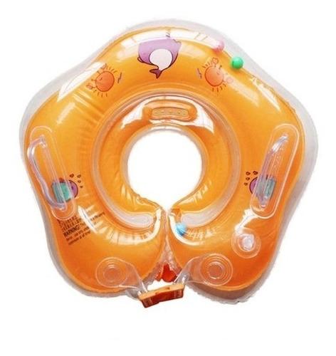 Boia De Pescoço Infantil Para Bebê Inflável Piscina Com Alça