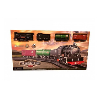 Juguete Tren A Pila Classic Express 18 Piezas 43 X 96 Cm