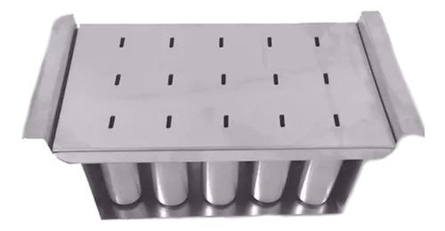 Forma De Aluminio Para Fabricar Picolé Redondo 15 Cavidades
