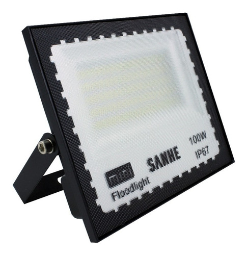 Mini Refletor Holofote Led Smd 100w Branco Frio Ip67 Bivolt