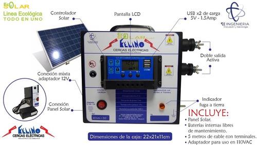 Cerca Eléctrica Solar 60km (todo En Uno) Usb, Mixta