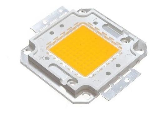 10x Chip Led 50w Reposição De Refletor - Branco Frio/quente