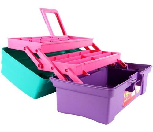 Caja Organizadora Maquillaje Manicure  14  Vanity Multicolor