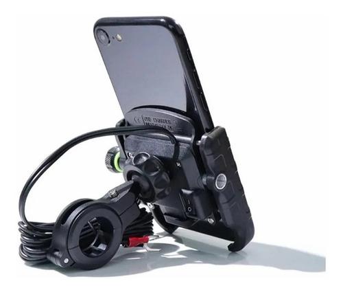 Suporte De Celular Para Moto Com Carregador Turbo Qc 3.0