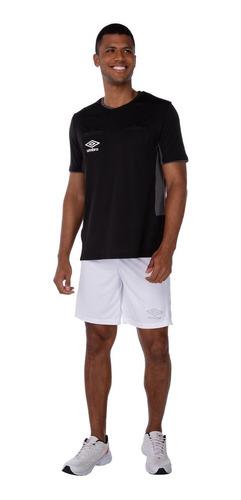 Camiseta Umbro Masculina Arbitro Twr Fit Preto 737950