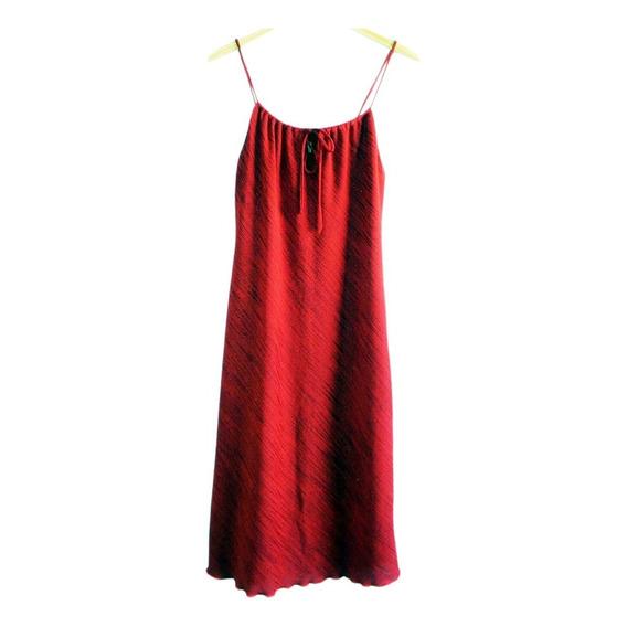 Vestido Rojo Marca Nare Tela Con Brillo (impecable) #fta