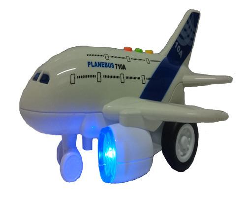 Avião De Viagem Brinquedo Realista Com Som E Luzes Bbr Toys
