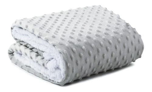 Manta Soft Bebê Plush Relevo Cobertor Microfibra C/ Sherpa