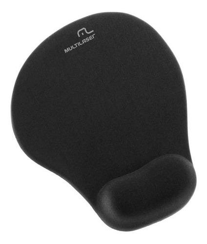 Mouse Pad Multilaser Ac021 De Tecido E Borracha Preto