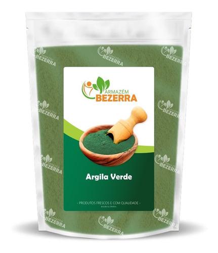 Argila Verde Em Pó Pura - 1kg