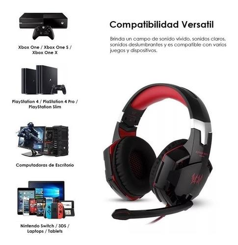 Headphones Gamer Kotion G2000 Red - Ecart