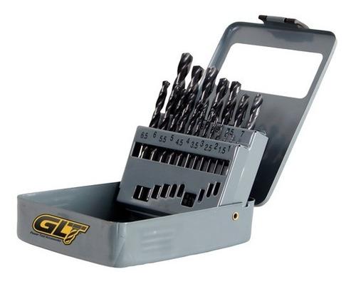 Brocas Para Metal Milimétrica Juego 19 Piezas Uso Industrial