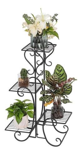 Lmell 4 Potes Quadrados De Flores Prateleiras De Metal Vaso