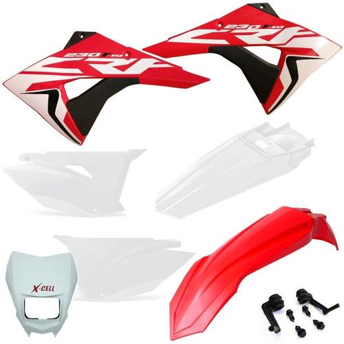 Kit Plástico Biker Elite Carenagem Roupa Farol Xcell Crf 230