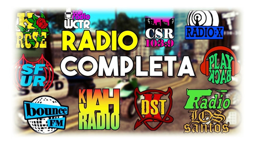 Rádio Completa Gta San Andreas Para Ouvir No Usb Do Carro