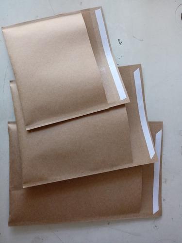 250 Envelopes Com  Bolha  Papel Kraft  19x25 Cm