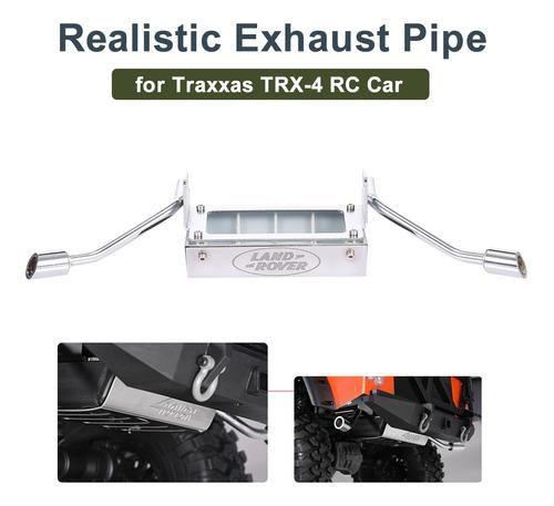 Metal 1/10 Traxxas Trx 4 Rc Carro Simulação Tubo De Escape P