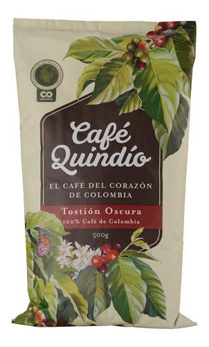 Café Quindío,molido Superior Tostión Oscura 500g Colombiano