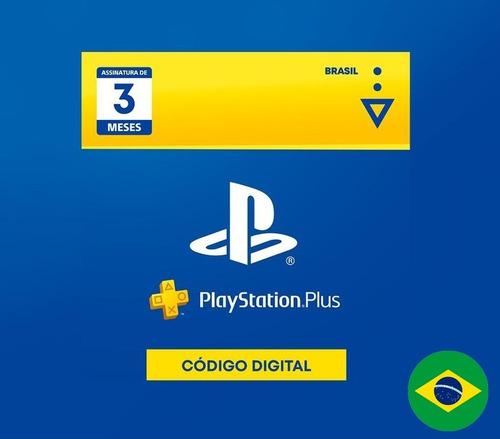 Cartão Psn Plus 3 Meses Brasil Playstation Br - Ps3 Ps4 Ps5