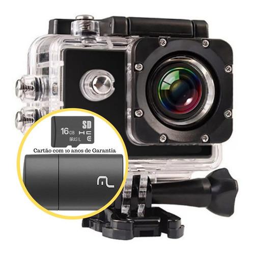 Câmera Filmadora Ação Capacete Mergulho Cartão Memória 16g