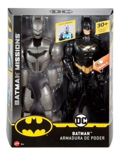 Muñeco Batman Armadura De Poder Luz Sonido Mattel Original