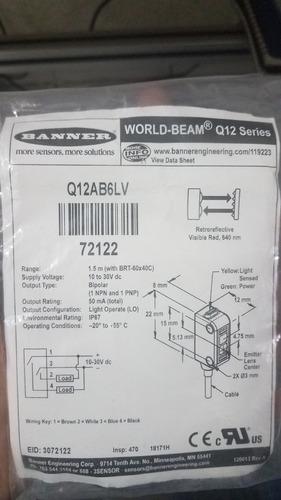 Q12ab6lv Banner Fotoeléctrico.