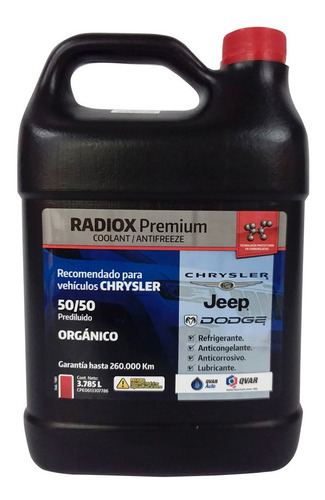 Refrigerante Rojo Dodge Jeep 50/50 Qvar Radiox  Sp