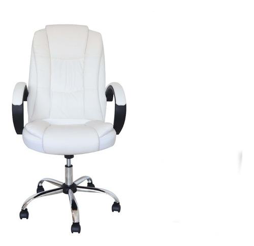 Cadeira De Escritório Presidente Em Couro Pu Luxo