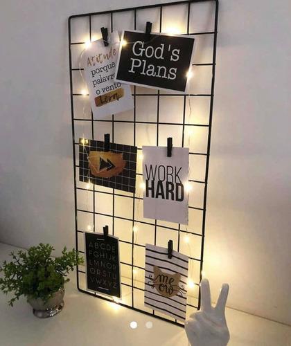 Memory Board Painel 30x60 Com Luzes E Pregadores
