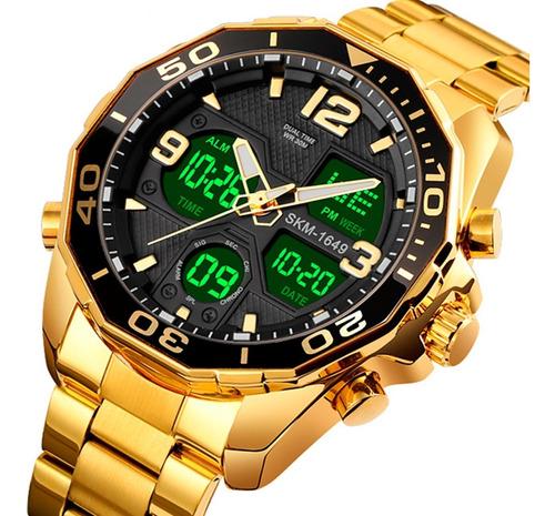 Relógio Masculino Skmei 1649 Anadigital Esporte Original Nf