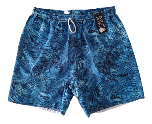 Kit Com 05 Shorts Tactel Praia Masculino Adulto Estampado