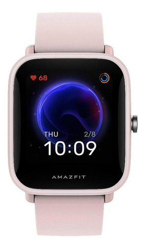 Smartwatch Amazfit Basic Bip U Pro 1.43  Caja De  Policarbonato  Pink Malla  Pink De  Caucho De Silicona A2008