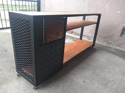 Mesa Para Tv Smartv Industrial Rústica