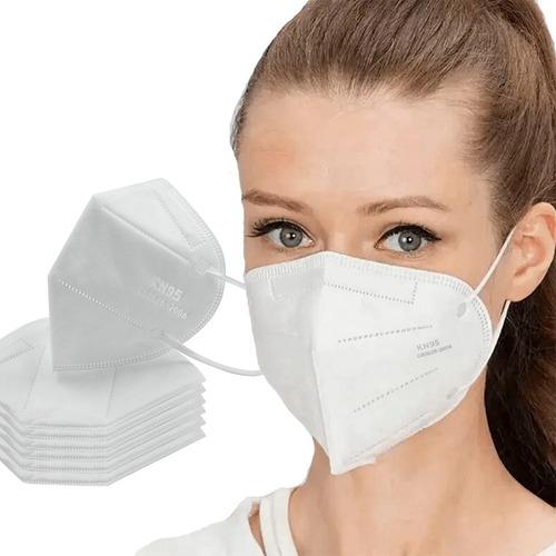 Kit 5 Máscaras Proteção Facial N95 Pff2 5 Camadas Clip Nasal