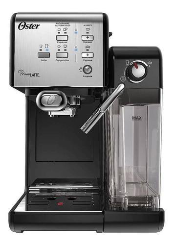 Cafetera Oster Primalatte Bvstem6701 Automática Acero Inoxidable Y Negra Para Expreso Y Cápsulas Monodosis 220v
