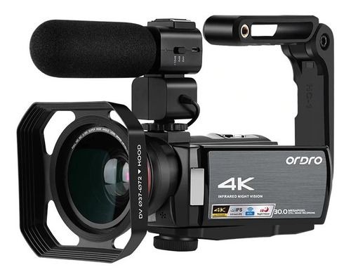 Filmadora 4k Ordro Hdr-ae8 Wi-fi 30m Live Kit Completo Lives