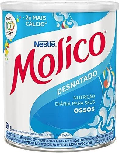 Kit C/ 5 Leite Em Pó Molico Desnatado 280g Nestlê Com Cálcio