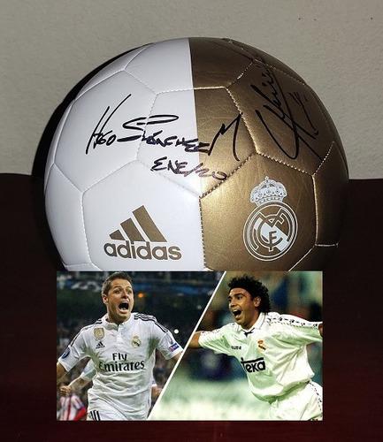 Balon Realmadrid Firmado Hugo Sanchez Chicharito Certificado