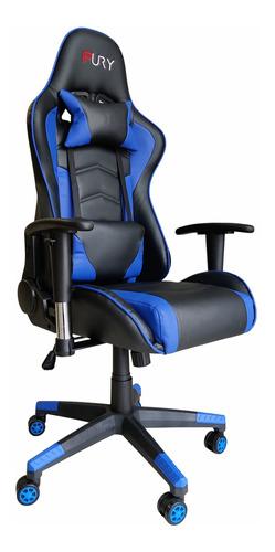 Cadeira Gamer Fury 7003, Braço Ajust, Couro Pu, Reclin 180º