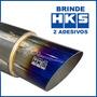 Abafador Esportivo Hks Inox 4 Polegadas Brinde Adesivo.