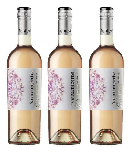 Vino Orgánico Veramonte Reserva Rose Pinot Noir 750 Cc X3